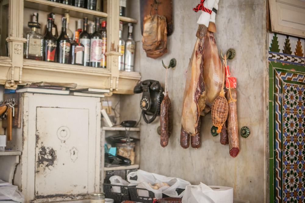 """Interior of  """"El Rinconcillo"""", restaurant established in 1670."""