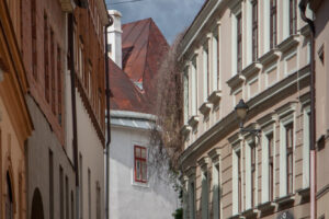 One of the streets of old town in Znojmo