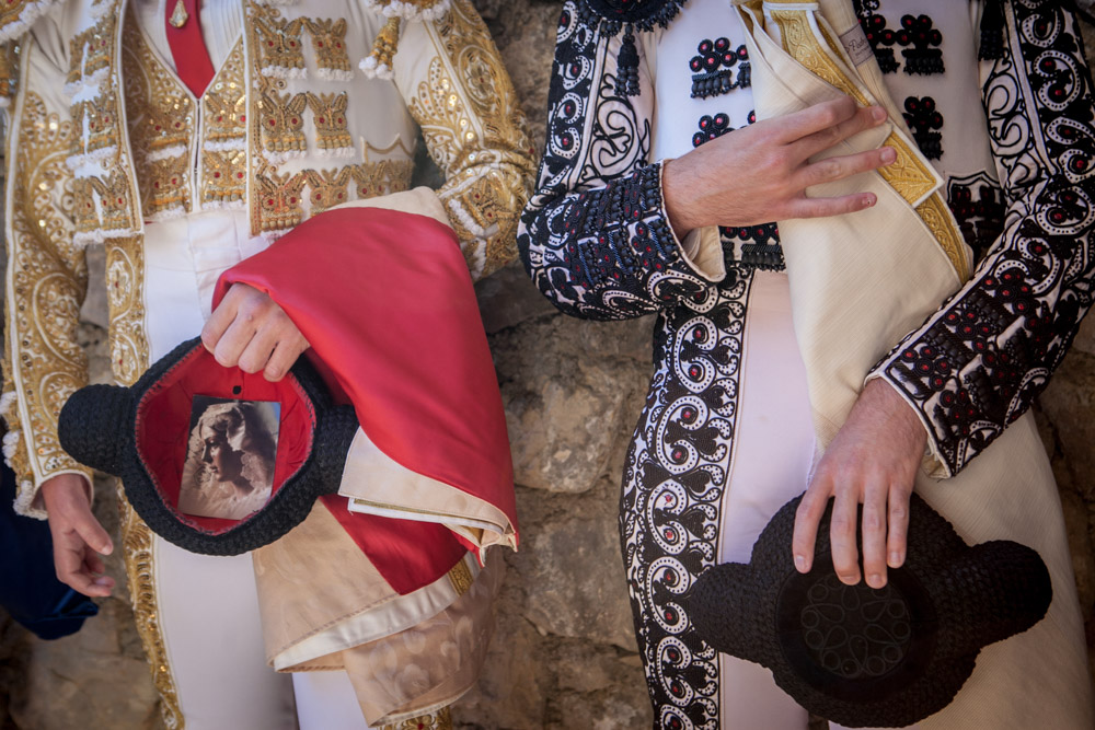 Typical bullfighting costume, called traje de luz